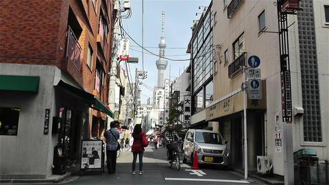 Tokyo Asakusa Japan 9 skytree Footage