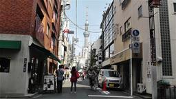 Tokyo Asakusa Japan 9 skytree Stock Video Footage