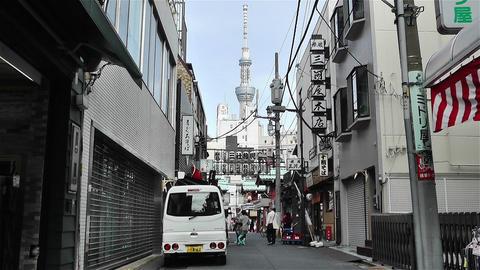 Tokyo Asakusa Japan 11 skytree Footage