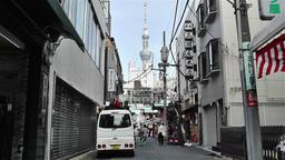 Tokyo Asakusa Japan 11 skytree Stock Video Footage