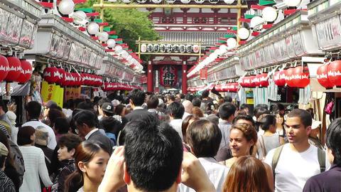 Tokyo Asakusa Japan 15 crowd Footage