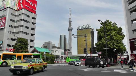 Tokyo Asakusa Japan 19 skytree Stock Video Footage