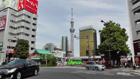 Tokyo Asakusa Japan 19 skytree Footage