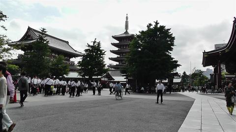 Tokyo Asakusa Senso Ji Temple Japan 1 Stock Video Footage