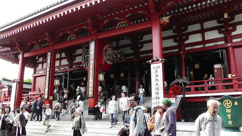 Tokyo Asakusa Senso Ji Temple Japan 3 Stock Video Footage