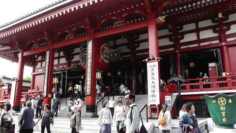 Tokyo Asakusa Senso Ji Temple Japan 3 Footage