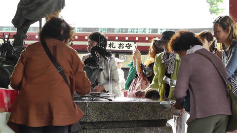Tokyo Asakusa Senso Ji Temple Japan 5 Stock Video Footage