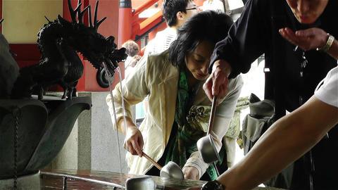 Tokyo Asakusa Senso Ji Temple Japan 7 Stock Video Footage