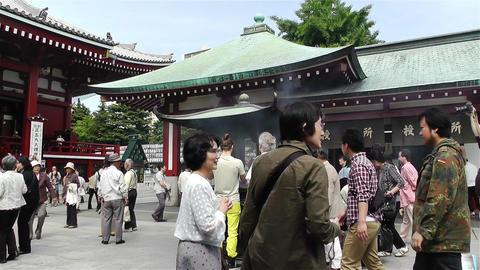 Tokyo Asakusa Senso Ji Temple Japan 9 Stock Video Footage