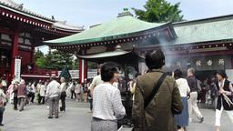 Tokyo Asakusa Senso Ji Temple Japan 9 Footage