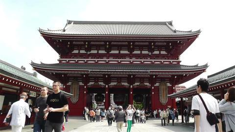 Tokyo Asakusa Senso Ji Temple Japan 11 Stock Video Footage