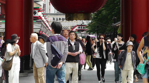 Tokyo Asakusa Senso Ji Temple Japan 13 Stock Video Footage