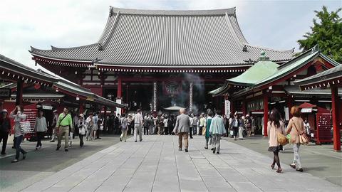 Tokyo Asakusa Senso Ji Temple Japan 15 Footage