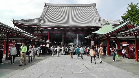 Tokyo Asakusa Senso Ji Temple Japan 15 Stock Video Footage