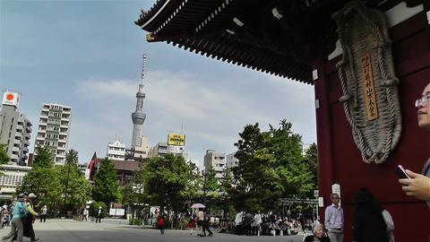 Tokyo Asakusa Senso Ji Temple Japan 17 Stock Video Footage
