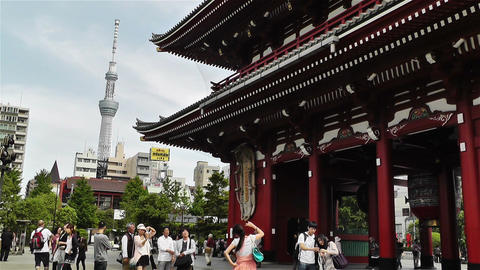 Tokyo Asakusa Senso Ji Temple Japan 19 Stock Video Footage