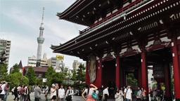 Tokyo Asakusa Senso Ji Temple Japan 19 Footage
