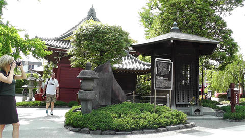 Tokyo Asakusa Senso Ji Temple Japan 22 Stock Video Footage
