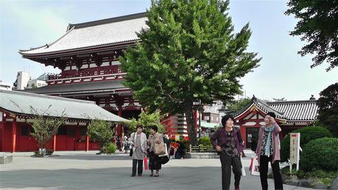 Tokyo Asakusa Senso Ji Temple Japan 24 Stock Video Footage