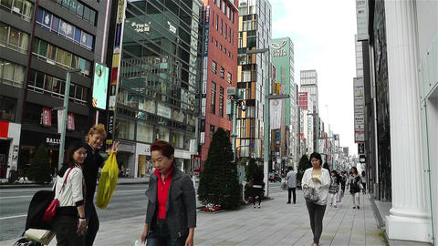 Tokyo Ginza Japan 1 Stock Video Footage