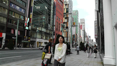Tokyo Ginza Japan 1 Footage