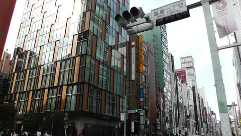 Tokyo Ginza Japan 3 Stock Video Footage
