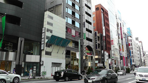 Tokyo Ginza Japan 5 Stock Video Footage