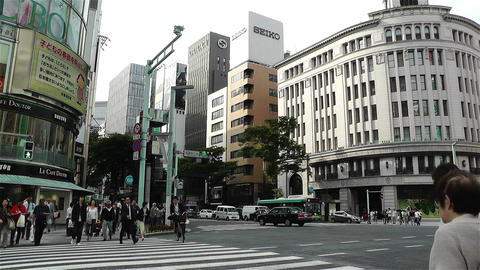 Tokyo Ginza Japan 7 Footage