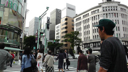 Tokyo Ginza Japan 7 Stock Video Footage