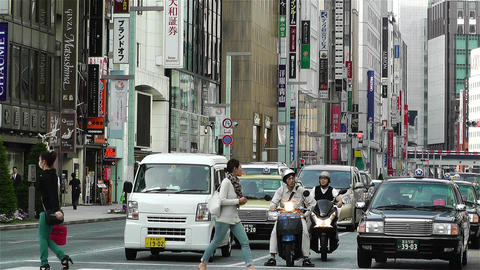 Tokyo Ginza Japan 11 Stock Video Footage