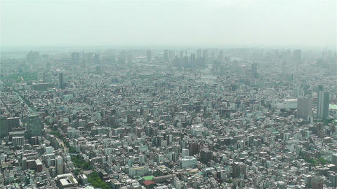 Tokyo Skytree Oshiage Aerial View to Tokyo 1 Stock Video Footage