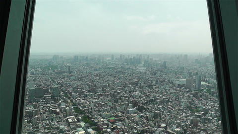 Tokyo Skytree Oshiage Aerial View to Tokyo 3 Stock Video Footage