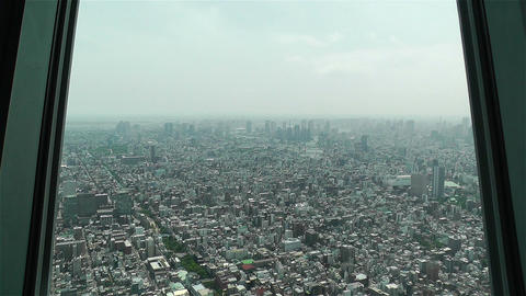 Tokyo Skytree Oshiage Aerial View to Tokyo 3 Footage