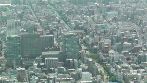 Tokyo Skytree Oshiage Aerial View to Tokyo 5 Stock Video Footage