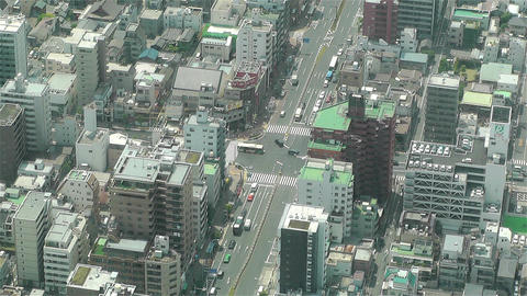 Tokyo Skytree Oshiage Aerial View to Tokyo 7 Footage