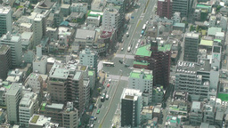 Tokyo Skytree Oshiage Aerial View to Tokyo 7 Stock Video Footage