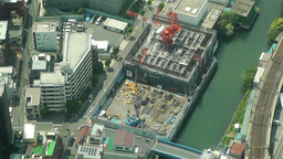 Tokyo Skytree Oshiage Aerial View to Tokyo 12 Stock Video Footage