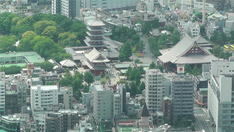 Tokyo Skytree Oshiage Aerial View to Tokyo 14 Stock Video Footage