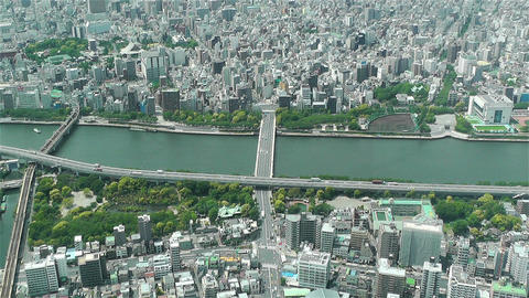 Tokyo Skytree Oshiage Aerial View to Tokyo 18 Stock Video Footage