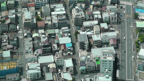 Tokyo Skytree Oshiage Aerial View to Tokyo 20 Footage