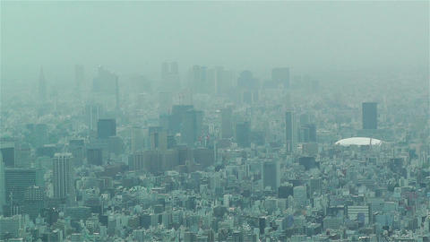Tokyo Skytree Oshiage Aerial View To Tokyo 22 Tokyo Dome stock footage