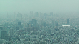 Tokyo Skytree Oshiage Aerial View to Tokyo 22 tokyo dome Stock Video Footage