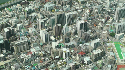 Tokyo Skytree Oshiage Aerial View to Tokyo 24 Footage