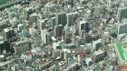 Tokyo Skytree Oshiage Aerial View to Tokyo 24 Stock Video Footage