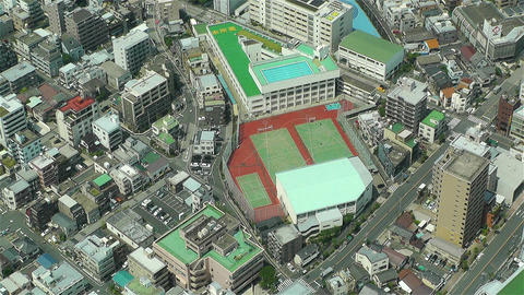 Tokyo Skytree Oshiage Aerial View to Tokyo 26 Stock Video Footage