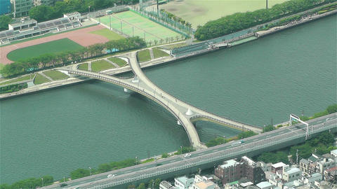 Tokyo Skytree Oshiage Aerial View to Tokyo 28 Stock Video Footage