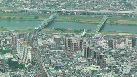 Tokyo Skytree Oshiage Aerial View to Tokyo 30 Stock Video Footage