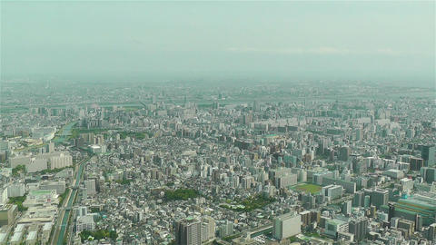 Tokyo Skytree Oshiage Aerial View to Tokyo 32 Stock Video Footage
