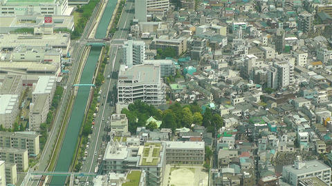 Tokyo Skytree Oshiage Aerial View to Tokyo 34 Stock Video Footage
