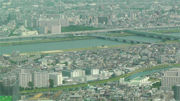 Tokyo Skytree Oshiage Aerial View to Tokyo 36 Stock Video Footage